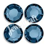JEWELCRAFT'S CZECH GLASS TWO-CUT EXTRA BRILLIANT HOT FIX RHINESTONES IN SIZE 10ss (3mm)- MONTANA SAPPHIRE