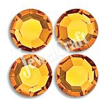JEWELCRAFT'S CZECH GLASS TWO-CUT EXTRA BRILLIANT HOT FIX RHINESTONES IN SIZE 10ss (3mm)- TOPAZ