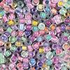 Crystal Clear Beads with Colored Linings Multicolor Assortment - 10/0 SIZE