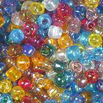 Transparent Rainbow Coated Beads (similar to Aurora Borealis) Multicolor Assortment - 5/0 SIZE