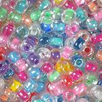 Crystal Clear Beads with Colored Linings Multicolor Assortment - 5/0 SIZE
